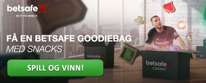 Betsafe goodiebag med masse snacks