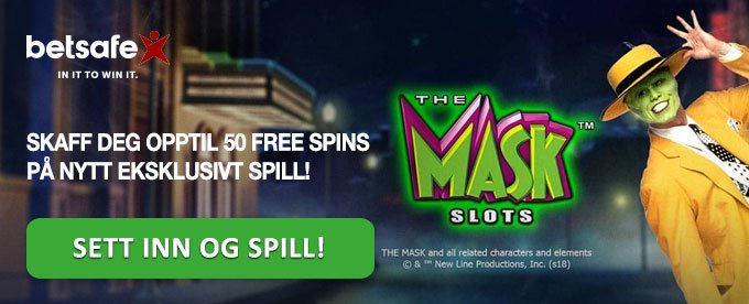 Skaff deg ekstra free spins på The Mask hos Betsafe
