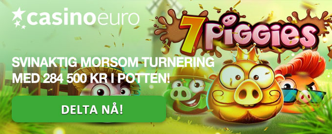 Casinoturnering på 7 Piggies hos CasinoEuro