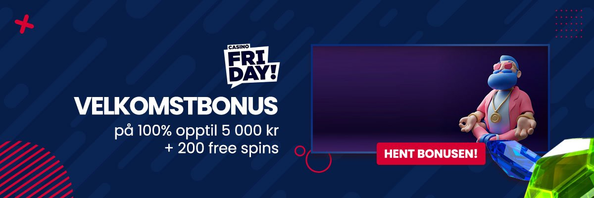 Hent bonusen hos CasinoFriday