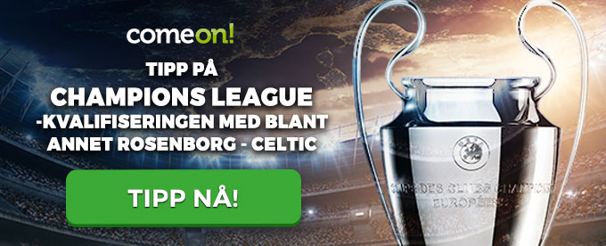 Champions League: Rosenborg vs Celtic odds hos ComeOn
