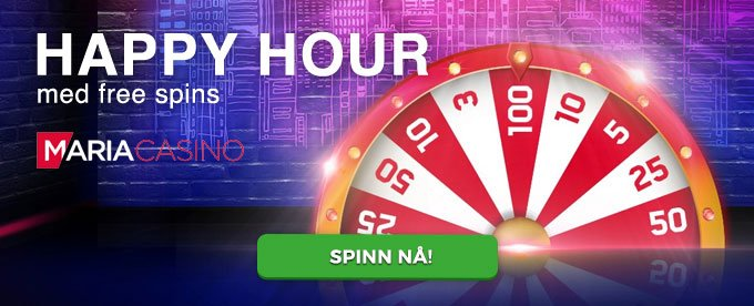 Happy Hour med free spins hos Maria Casino