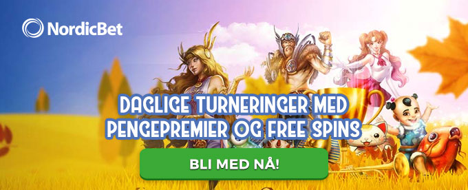 Nordicbet turneringsuke med cash og free spins