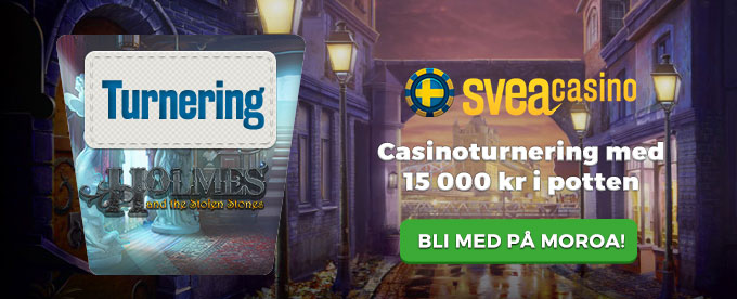 Sveacasino casinoturnering med 15 000 kr i potten