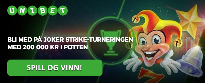 Joker Strike-turnering hos Unibet