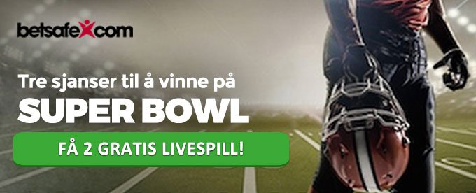 Spill på Super Bowl hos Betsafe