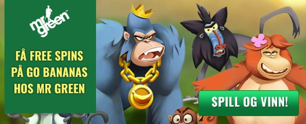 Få opptil 125 free spins på Go Bananas hos Mr Green