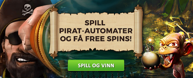 Spill pirat-automater of få free spins hos SlotsMillion